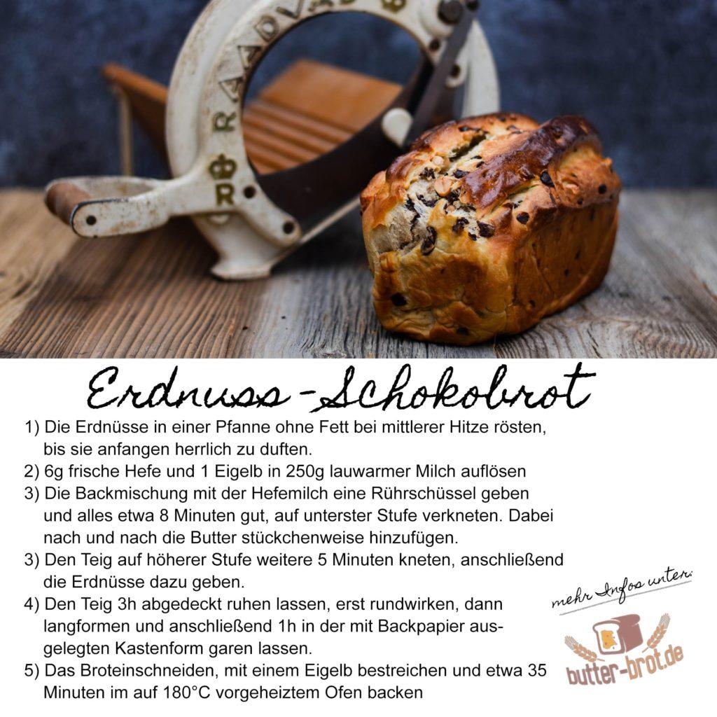 Erdnuss-Schokobrotbackmischung
