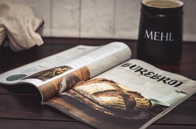 Brot Magazin geöffnet